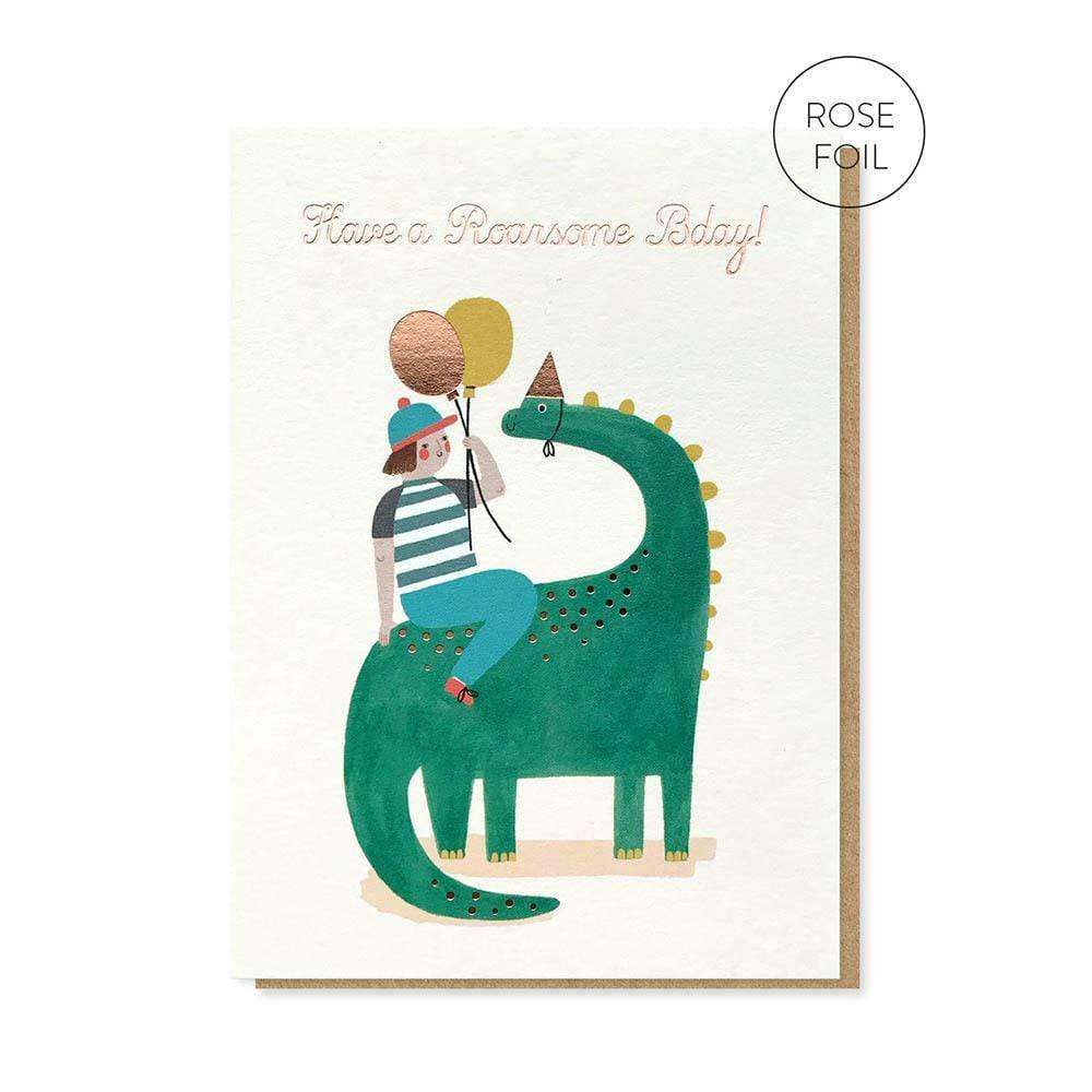 Roarsome Birthday Greetings Card &Keep