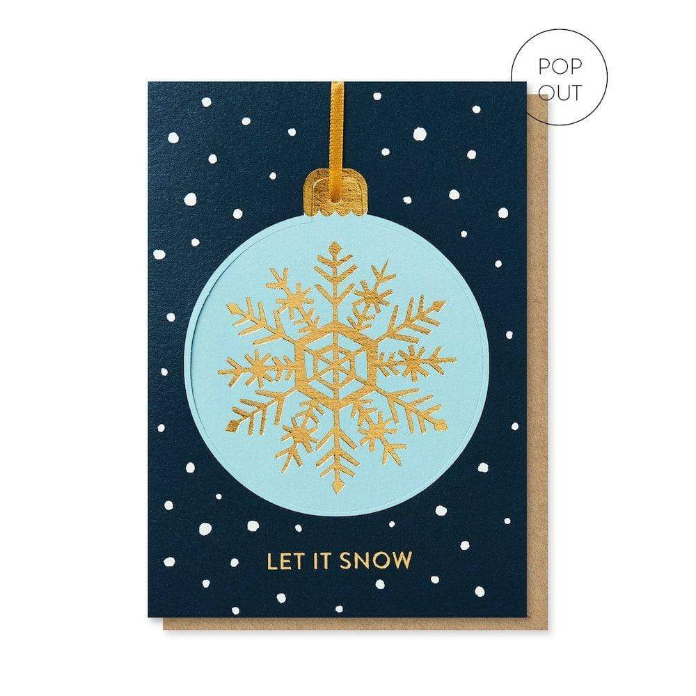 Snowflake Pop-Out Bauble Christmas Card Stormy Knight &Keep