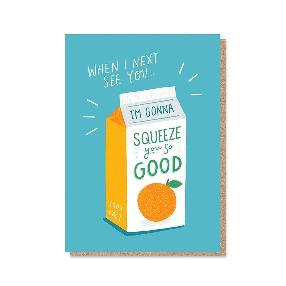 'Squeeze You' NHS Charity Greetings Card &Keep