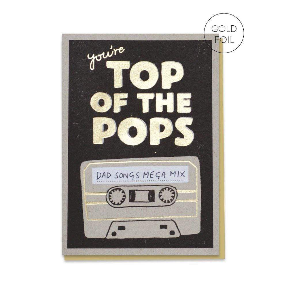 Top of the pops recycled greetings card Stormy Knight &Keep