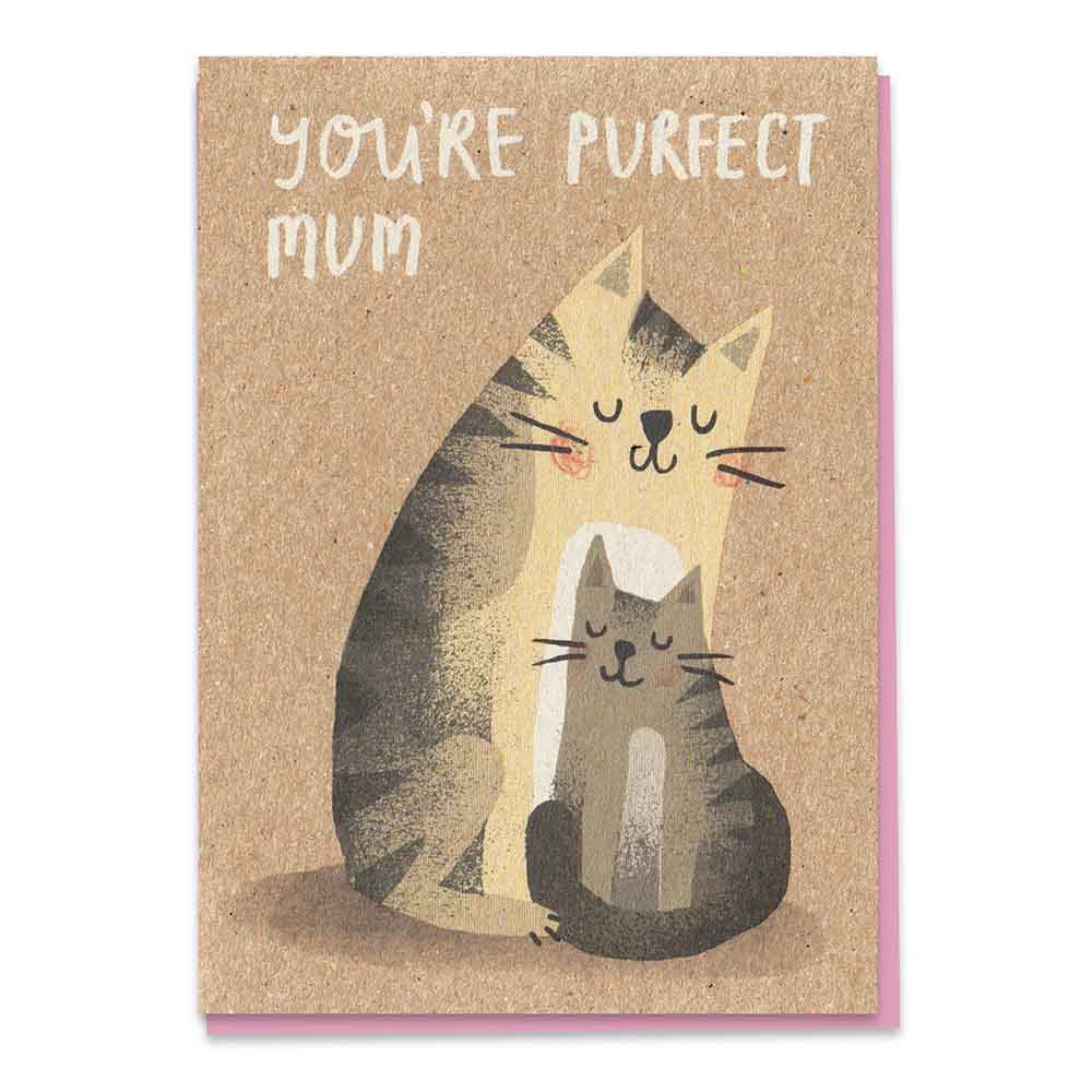 You're Purfect Mum - Recycled Greetings Card Stormy Knight &Keep