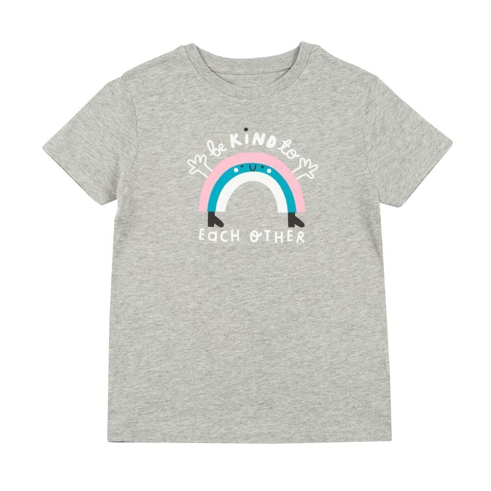 Be Kind Kids Organic Cotton T-Shirt - Grey by The Kindness Co-op &Keep
