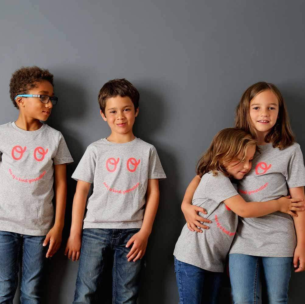 One of a Kind Kids Organic Cotton T-Shirt - Grey by The Kindness Co-op &Keep