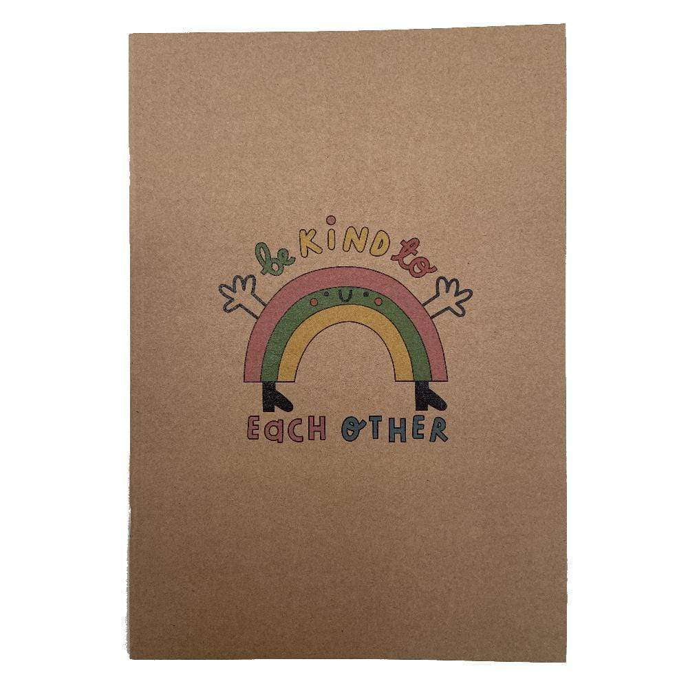 Be Kind to Each Other Recycled A5 Notebook &Keep