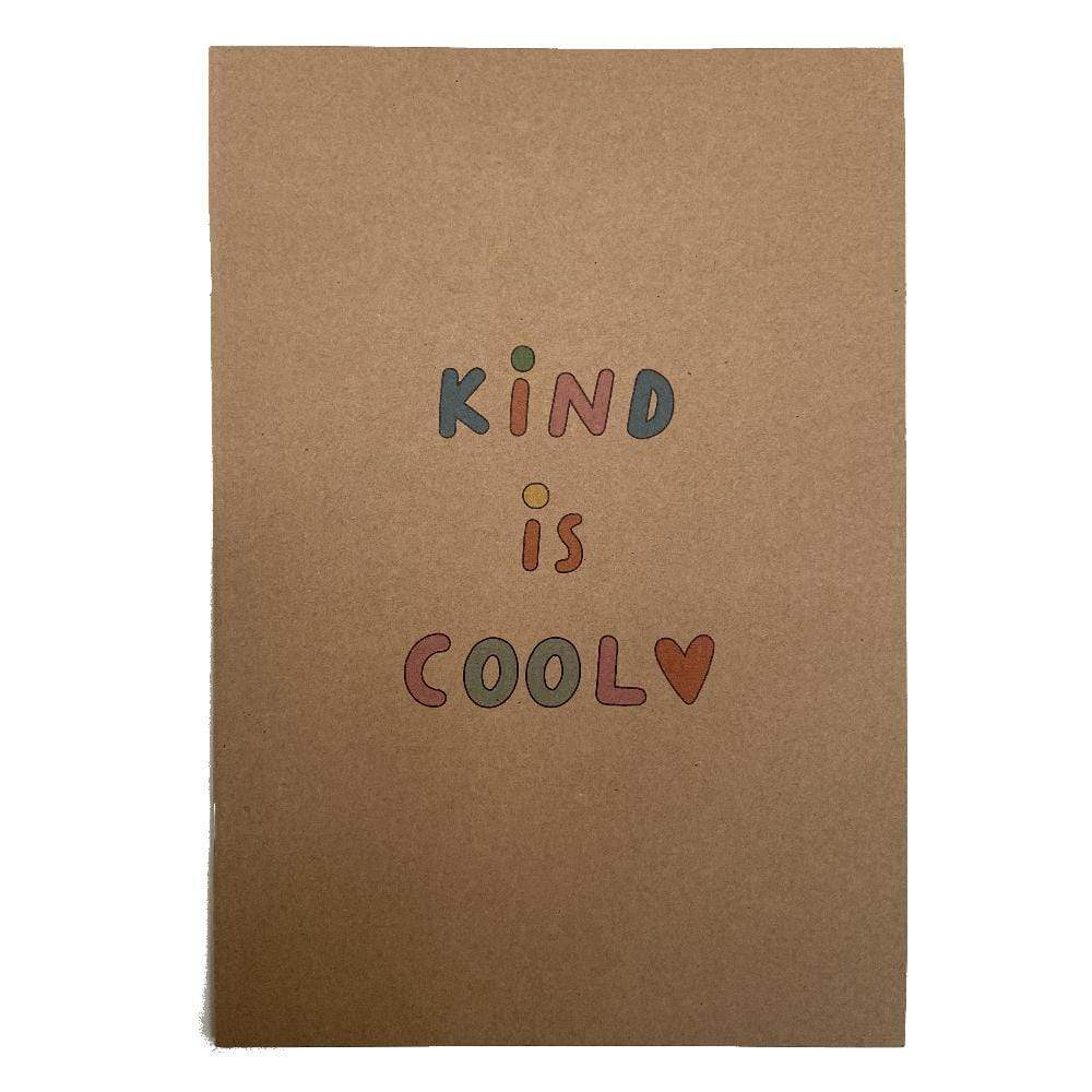 Kind is Cool Recycled A5 Notebook The Kindness Co-op &Keep