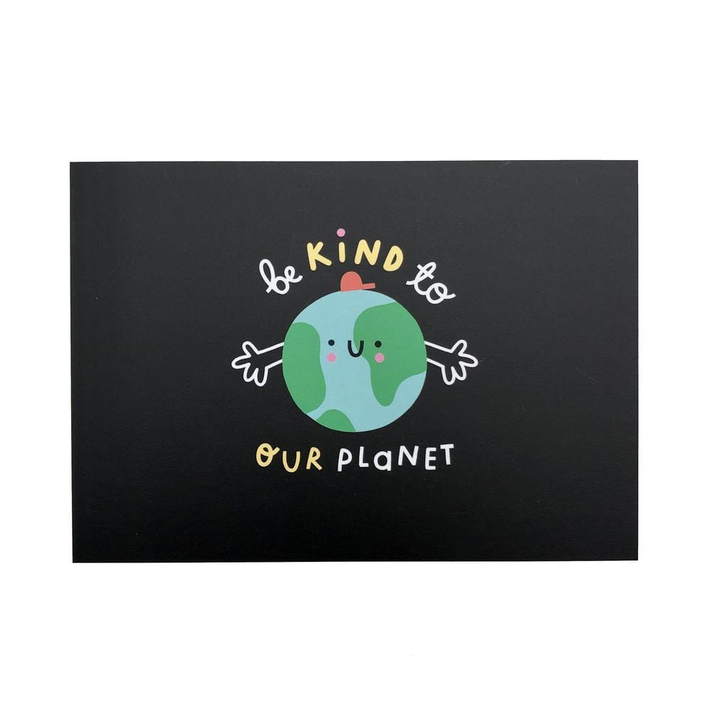 Be Kind to Our Planet Recycled Postcard The Kindness Co-op &Keep