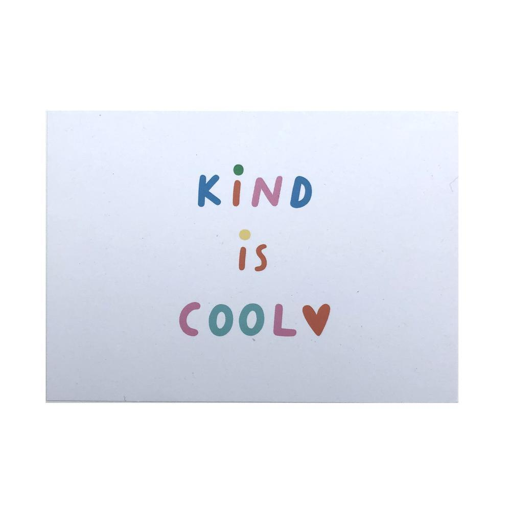 Kind is Cool Recycled Postcard The Kindness Co-op &Keep