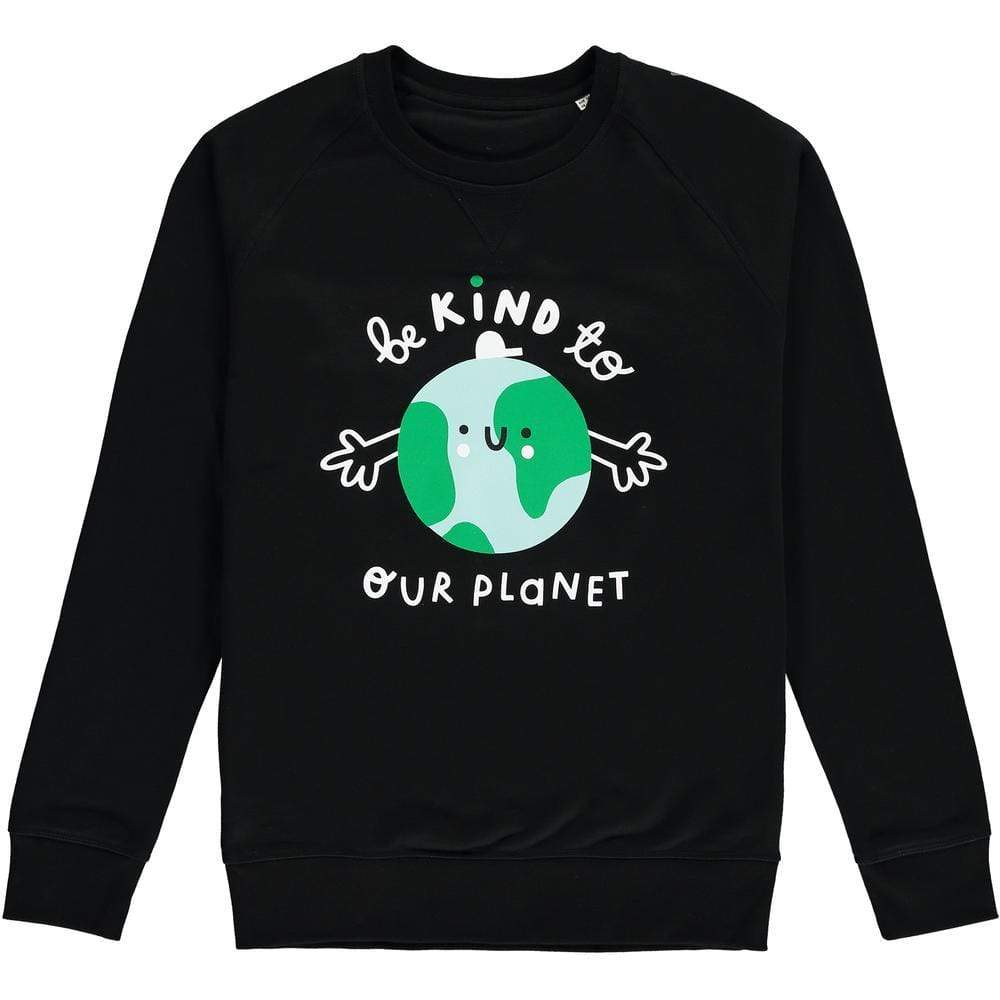 Planet Kind Adults Organic Cotton Sweatshirt - Black by The Kindness Co-op &Keep