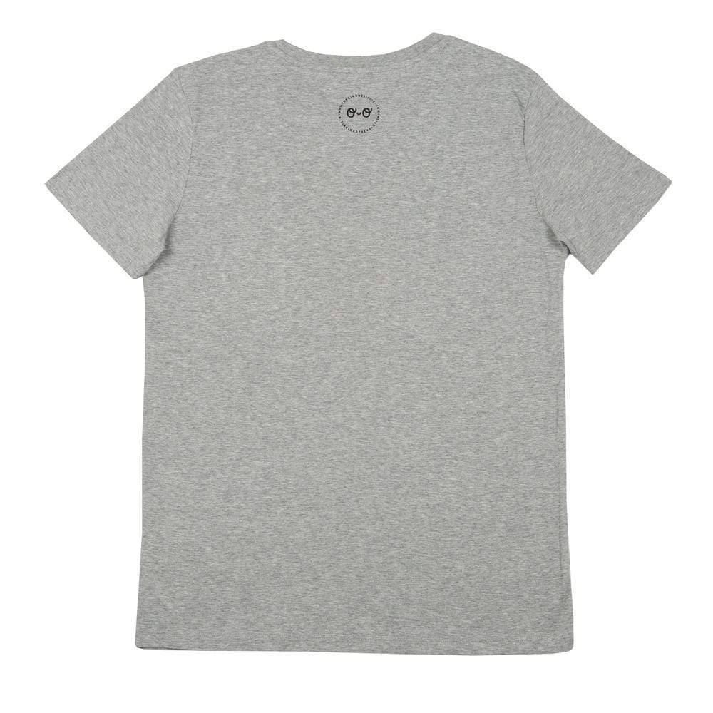 Planet Kind Adults Organic Cotton T-Shirt - Grey by The Kindness Co-op &Keep