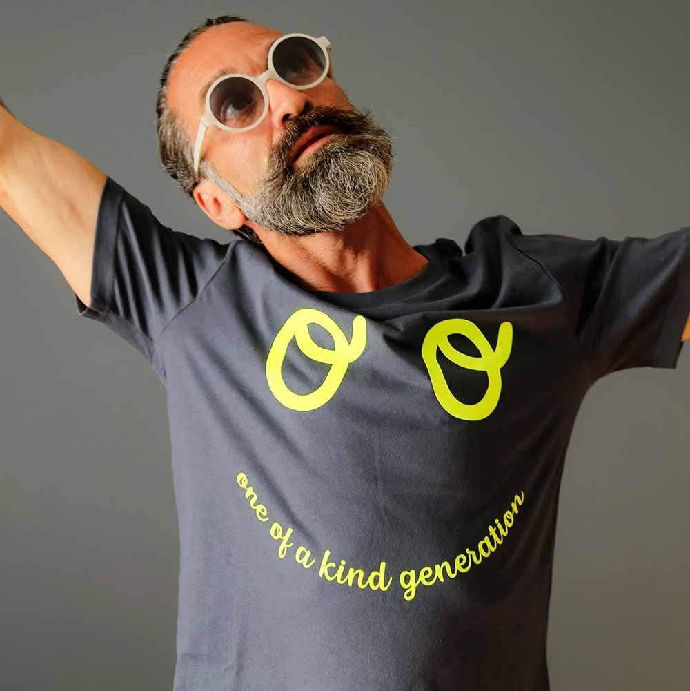 One of a Kind Adults Organic Cotton T-Shirt - French Navy by The Kindness Co-op &Keep