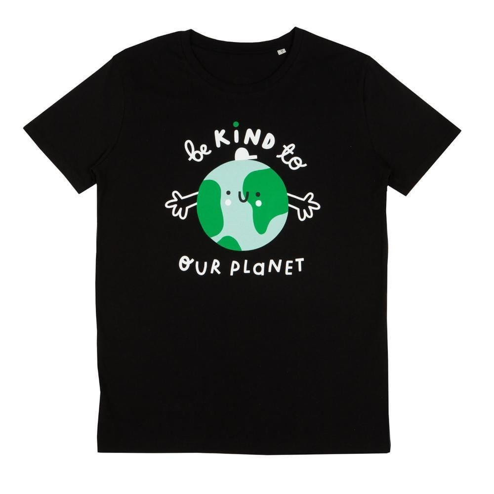 Planet Kind Adults Organic Cotton T-Shirt - Black by The Kindness Co-op &Keep