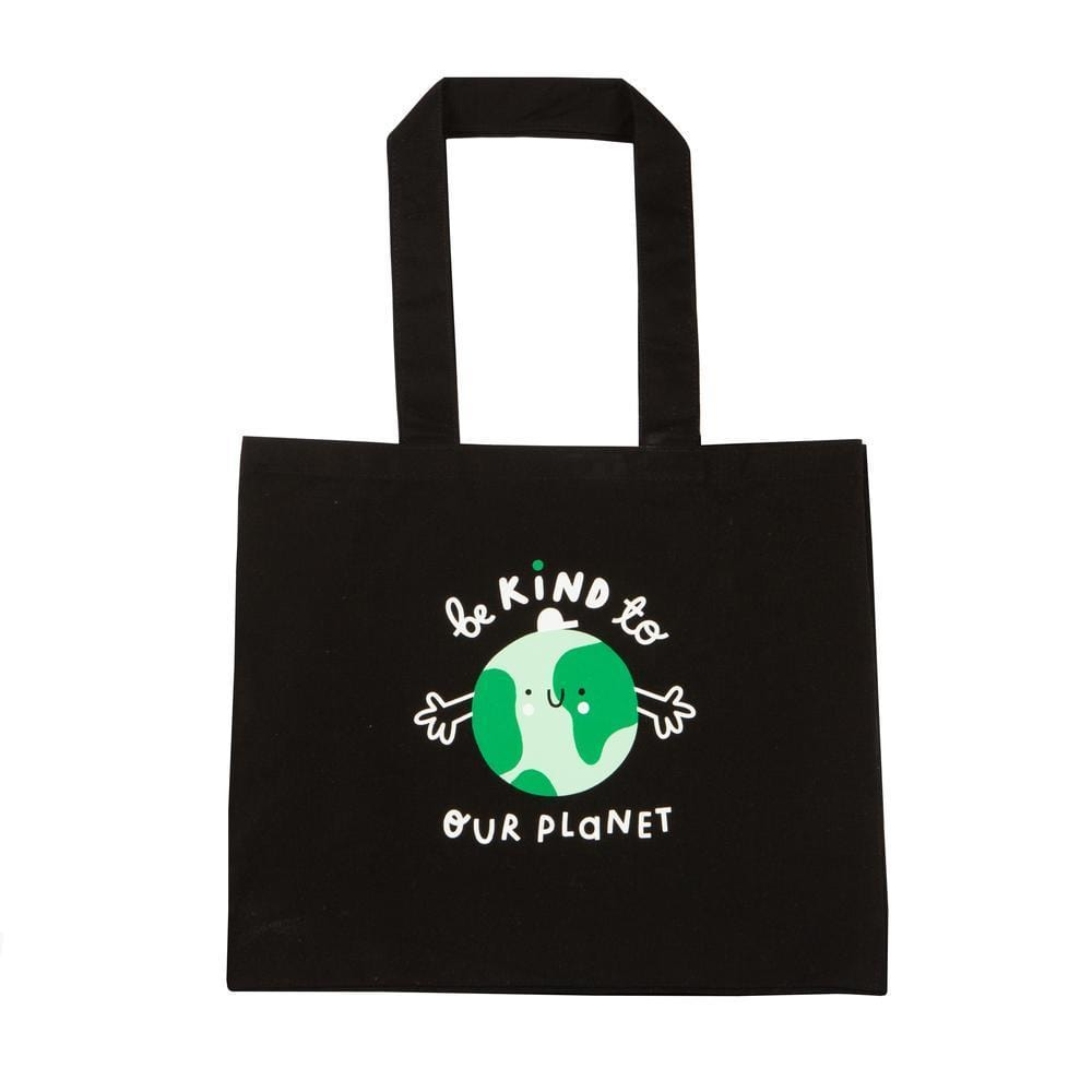 Planet Kind Recycled Black Canvas Extra Large Tote Bag The Kindness Co-op &Keep