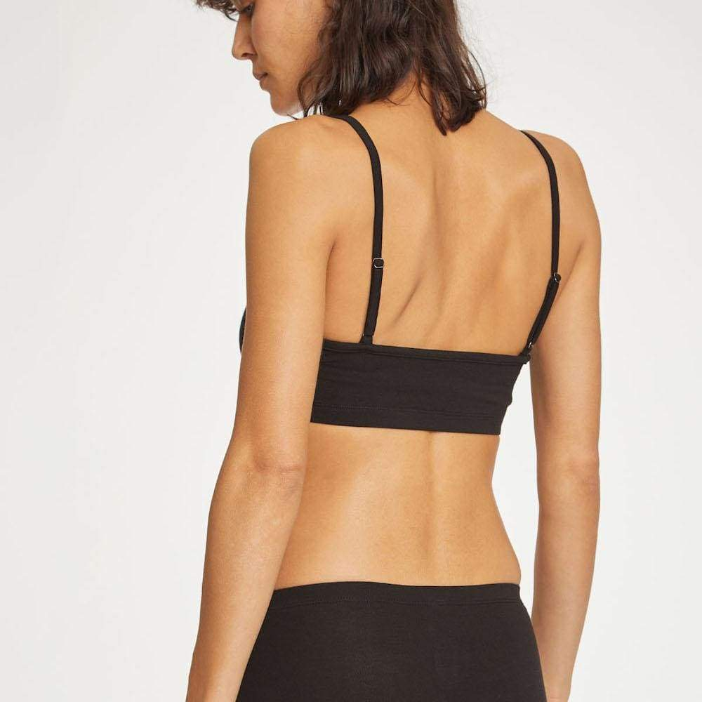 Thought Hannah Bamboo Jersey Bralette by Thought - Black &Keep