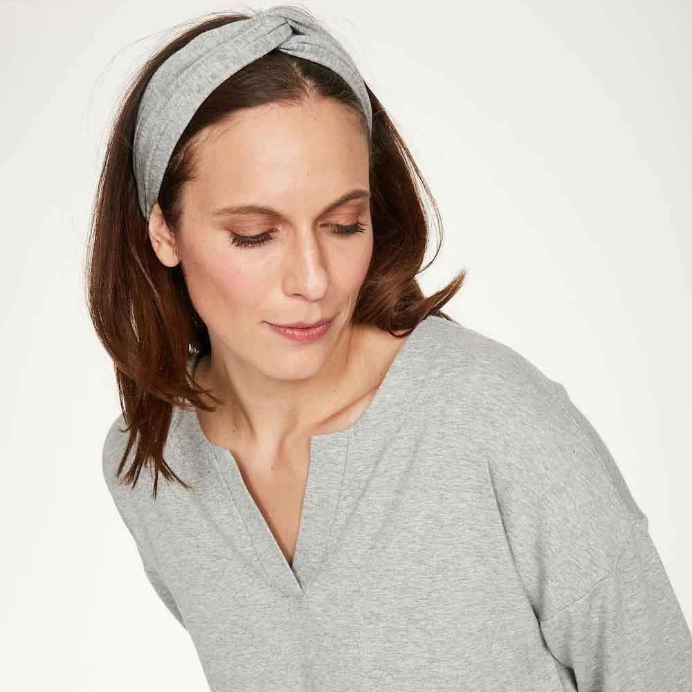 Soft Bamboo Jersey Headband by Thought - Grey &Keep