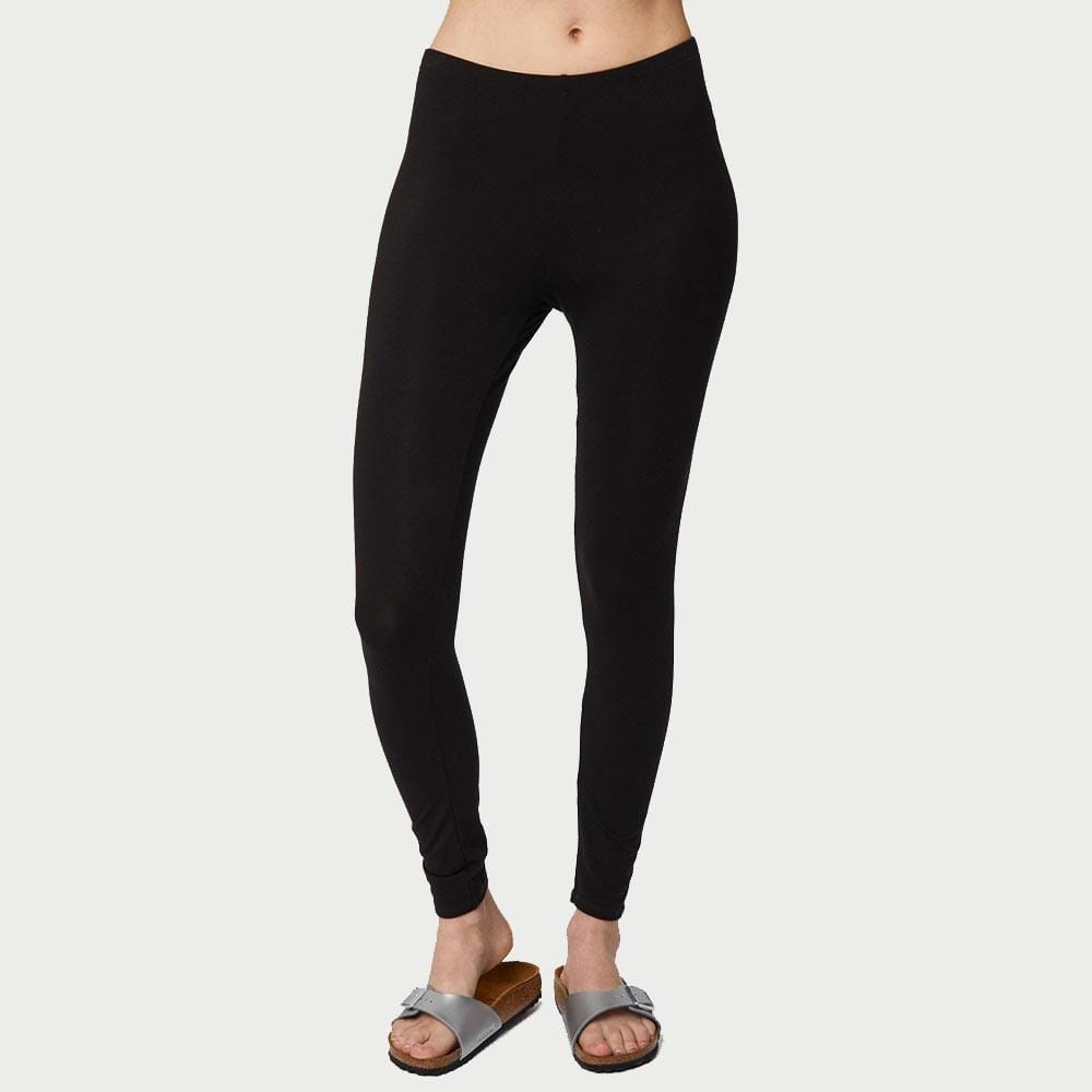 Black Bamboo Base Layer Leggings by Thought Clothing &Keep
