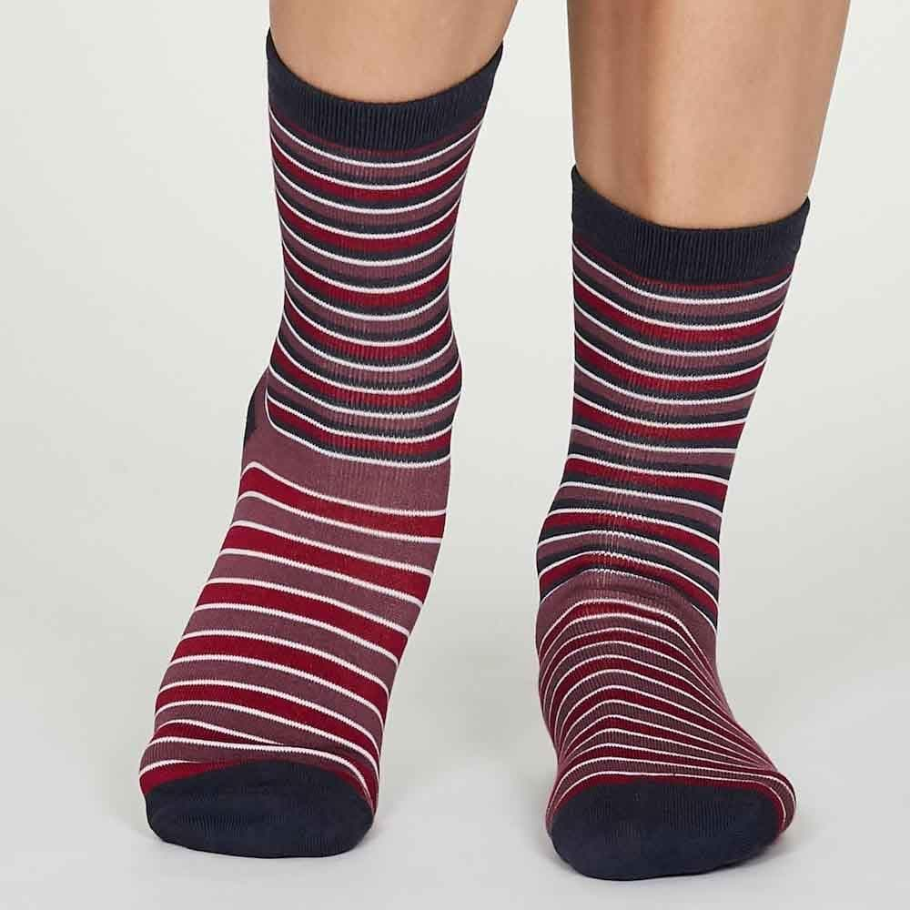 2-Pack of Women's Spots & Stripes Bamboo Socks by Thought &Keep