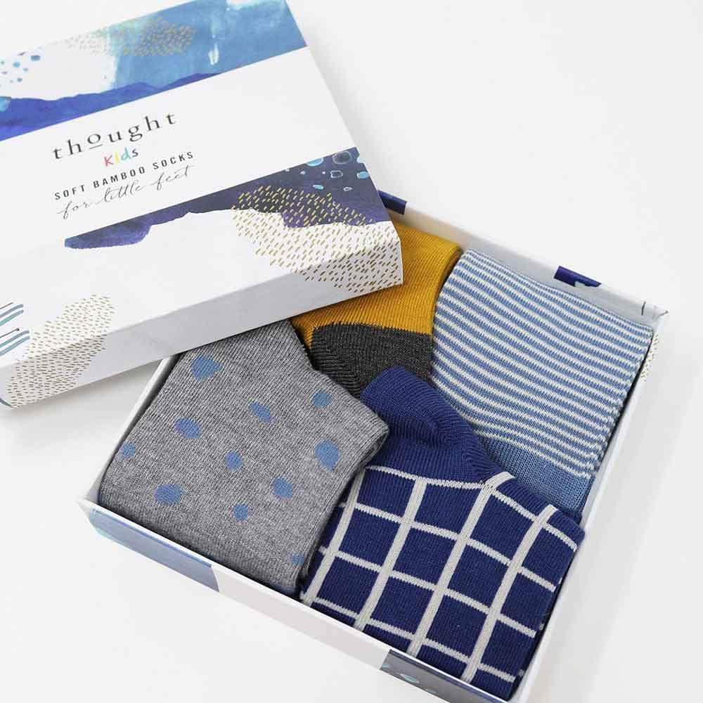 Gift Box of Children's Bamboo Socks - River &Keep