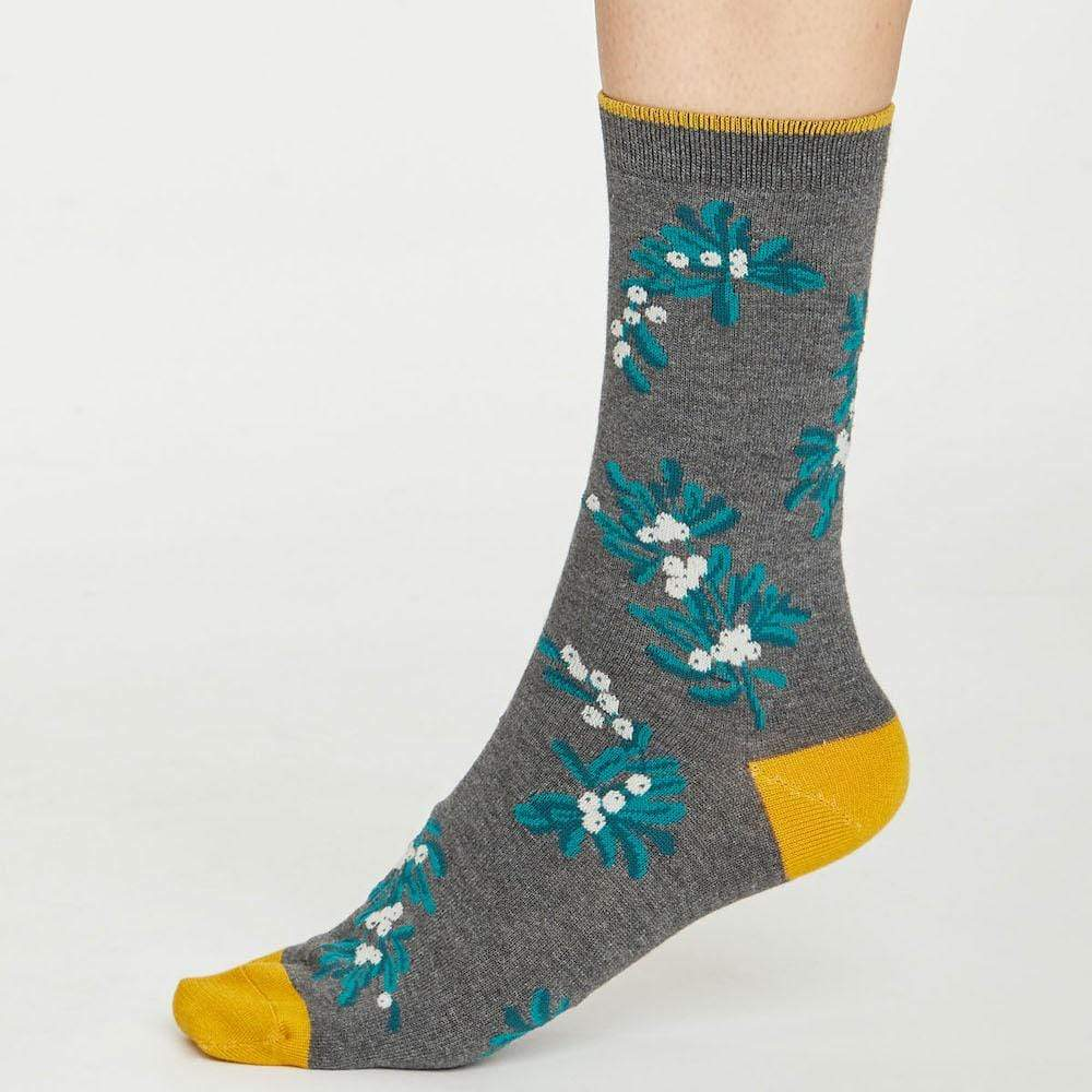 Christmas Foliage Natural Bamboo Socks by Thought (Various)