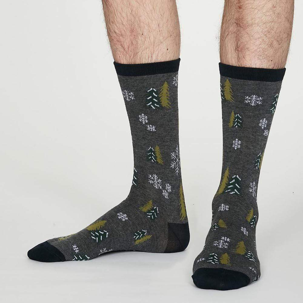 Gift Box of 4 Men's Bamboo Christmas Socks by Thought &Keep
