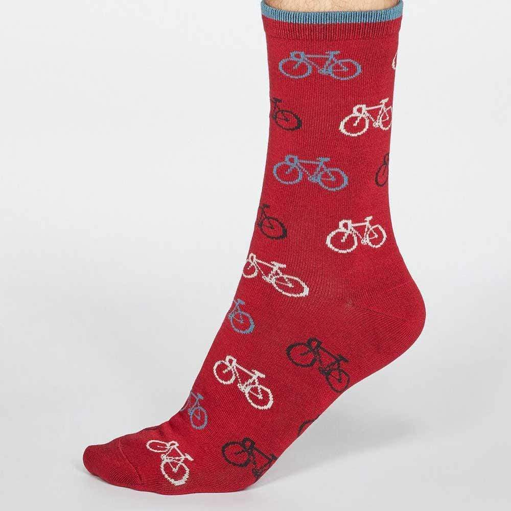 Gift Box of 4 Men's Bamboo Socks by Thought - Bicycles &Keep