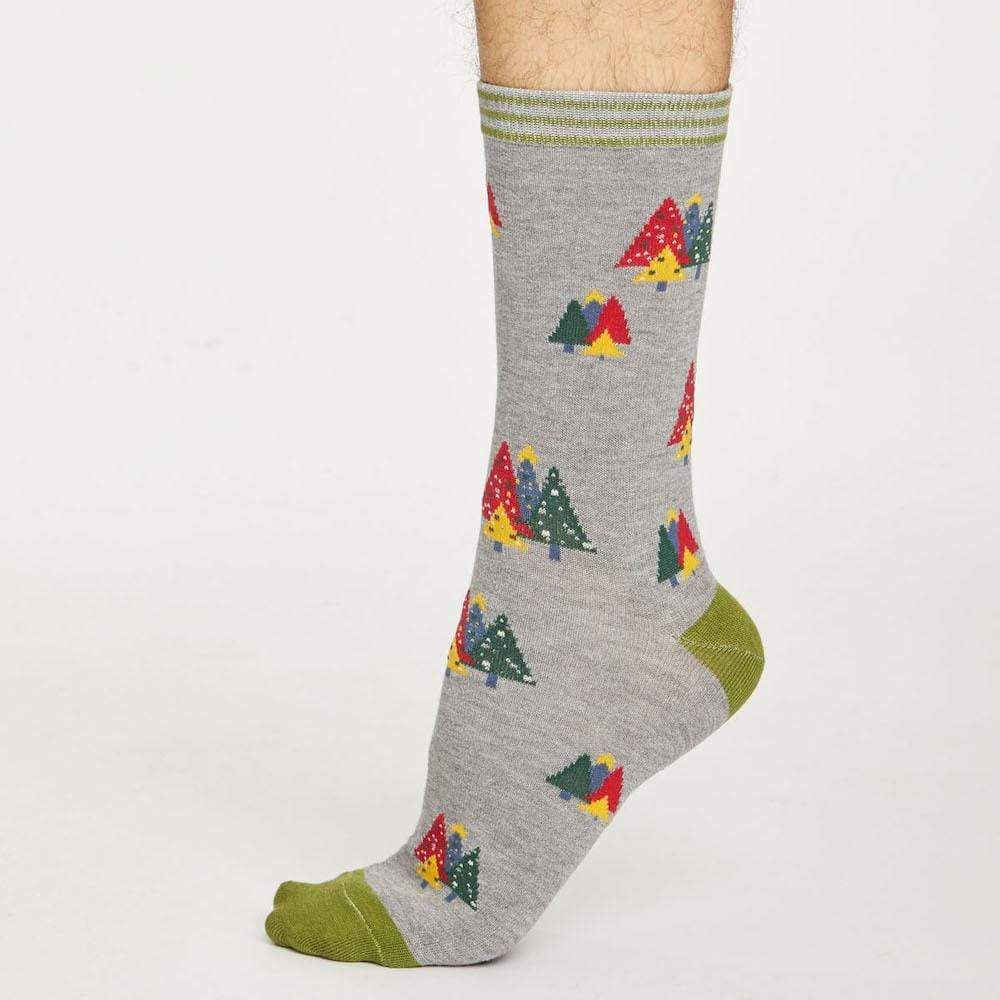 Men's Natural Bamboo Socks by Thought Clothing - Christmas Tree &Keep