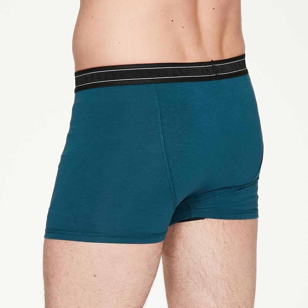 Men's Bamboo 'Arthur' Boxers by Thought - Majolica Blue &Keep