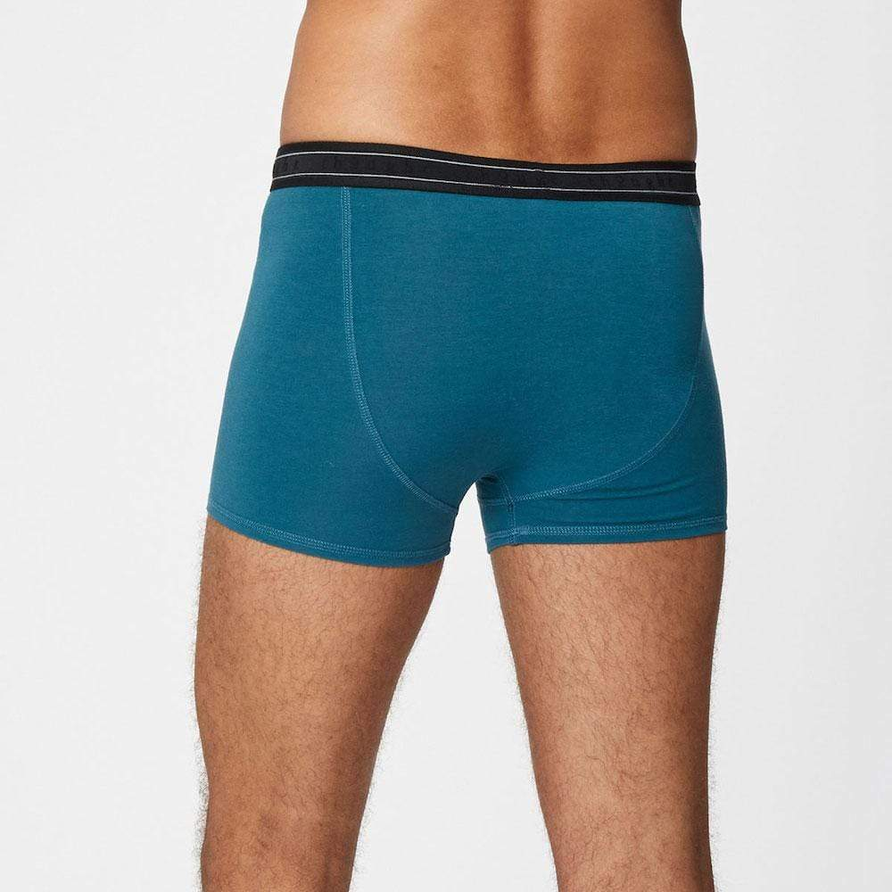 Men's Bamboo 'Arthur' Boxers by Thought - Lagoon Blue &Keep