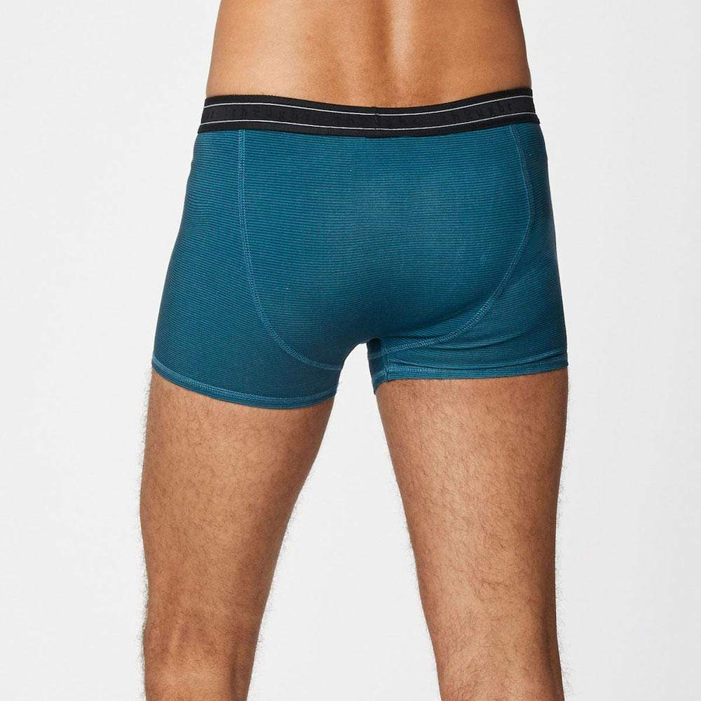 Men's Bamboo 'Michael' Boxers by Thought - Lagoon Blue &Keep