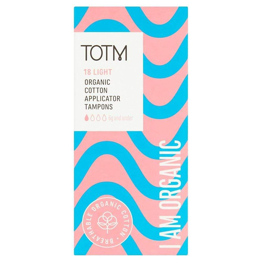 Organic Cotton Applicator Tampons by TOTM Light &Keep