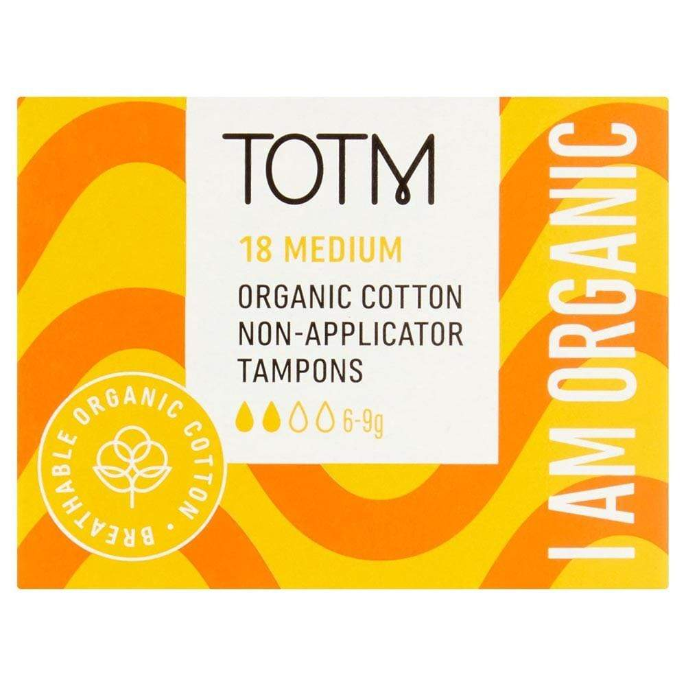 Organic Cotton Non-Applicator Tampons by TOTM Medium &Keep