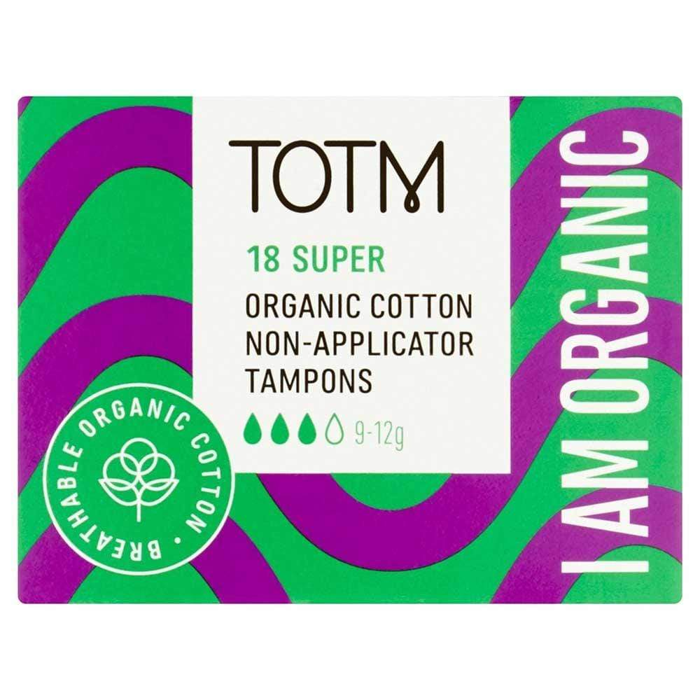 Organic Cotton Non-Applicator Tampons by TOTM