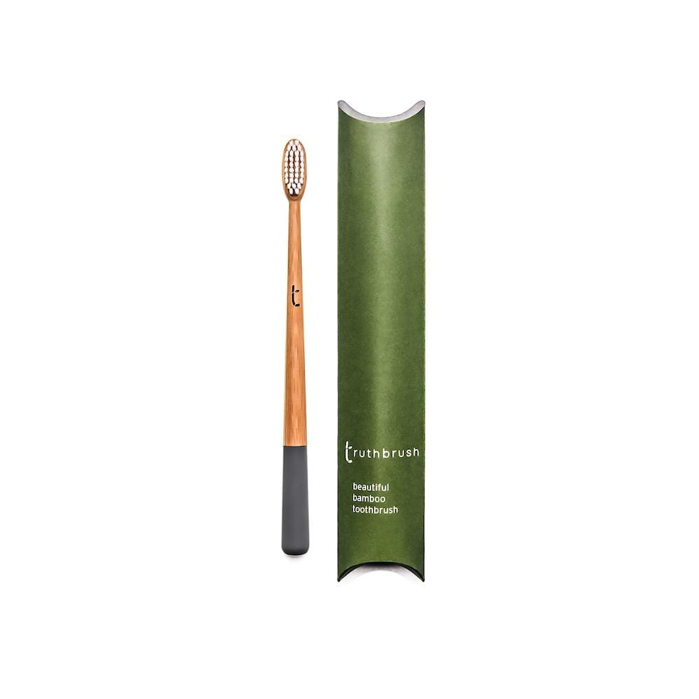 Truthbrush Truthbrush Bamboo Toothbrush - Storm Grey (Medium Plant-Based Bristles) &Keep