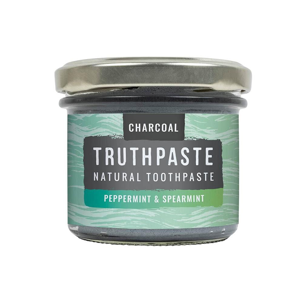 Truthpaste - Natural Toothpaste Charcoal Peppermint 120g &Keep