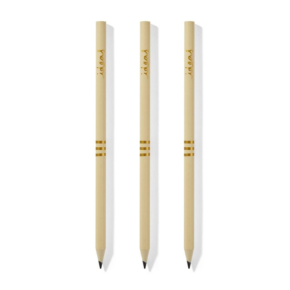 Recycled CD Case Pencils - 'Ideas' Set of 3 &Keep