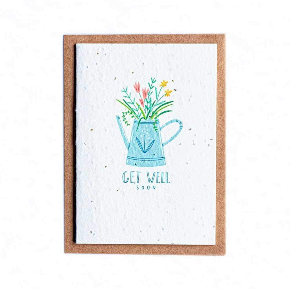 Seed Paper Greetings Card - Get Well Soon &Keep