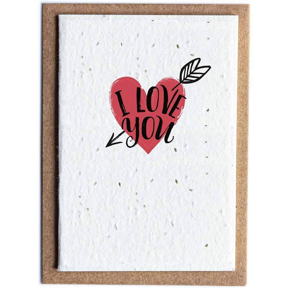 Seed Paper Greetings Card - I Love You &KeepSeed Paper Greetings Card - I Love You &keep