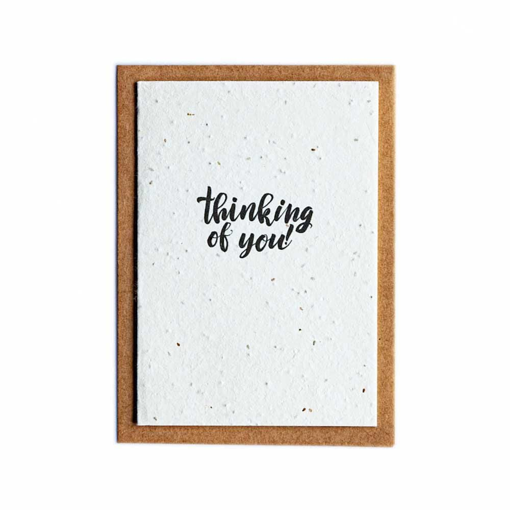 Seed Paper Greetings Card - Thinking of You &Keep