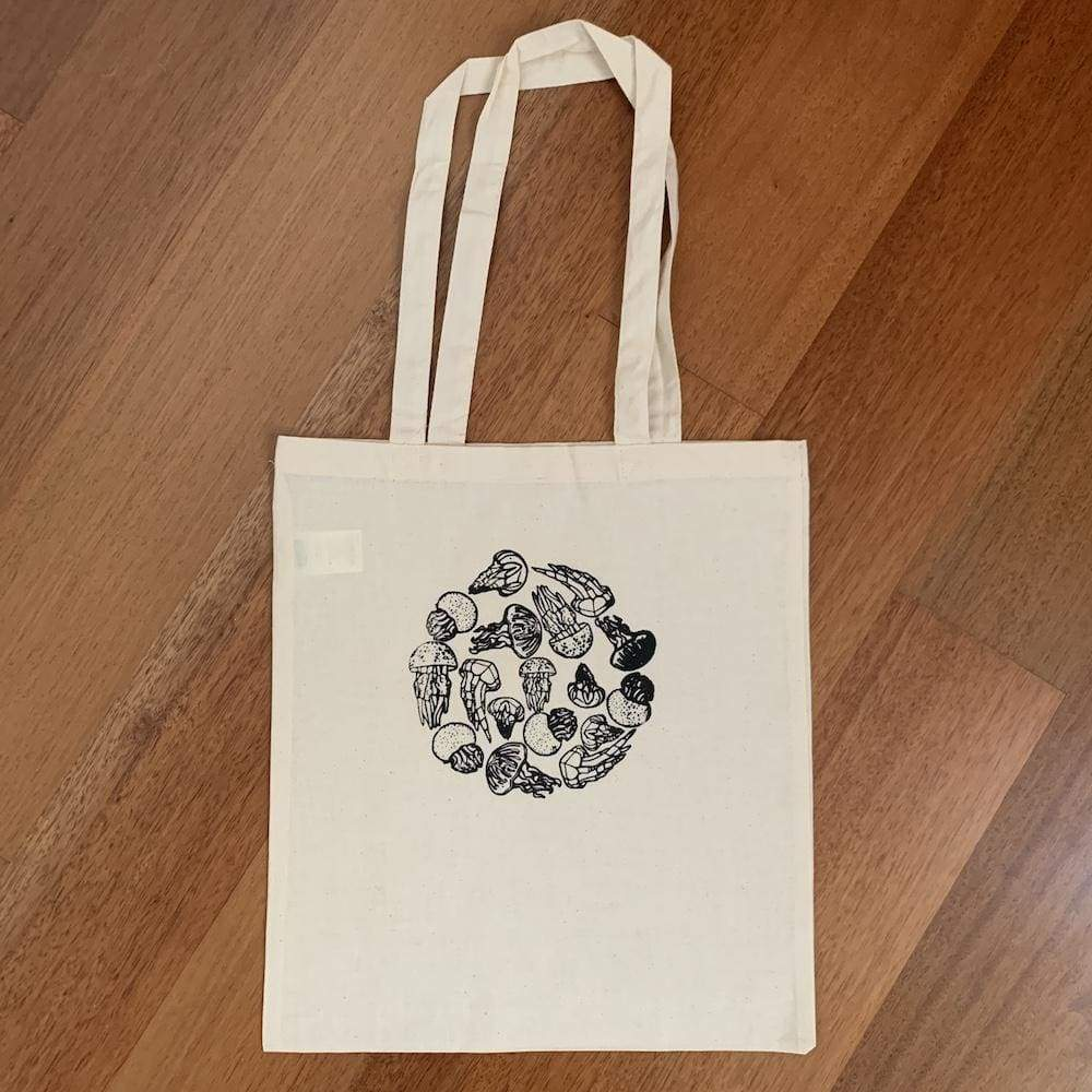 Wild Apparel Cotton Tote Bag - Jellyfish &Keep