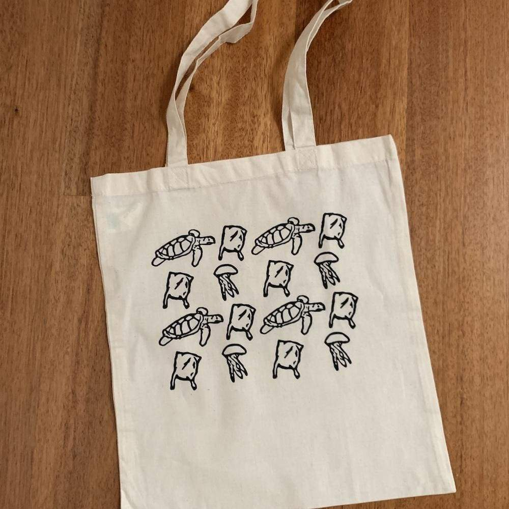 Wild Apparel Cotton Tote Bag - Not Turtle Food &Keep