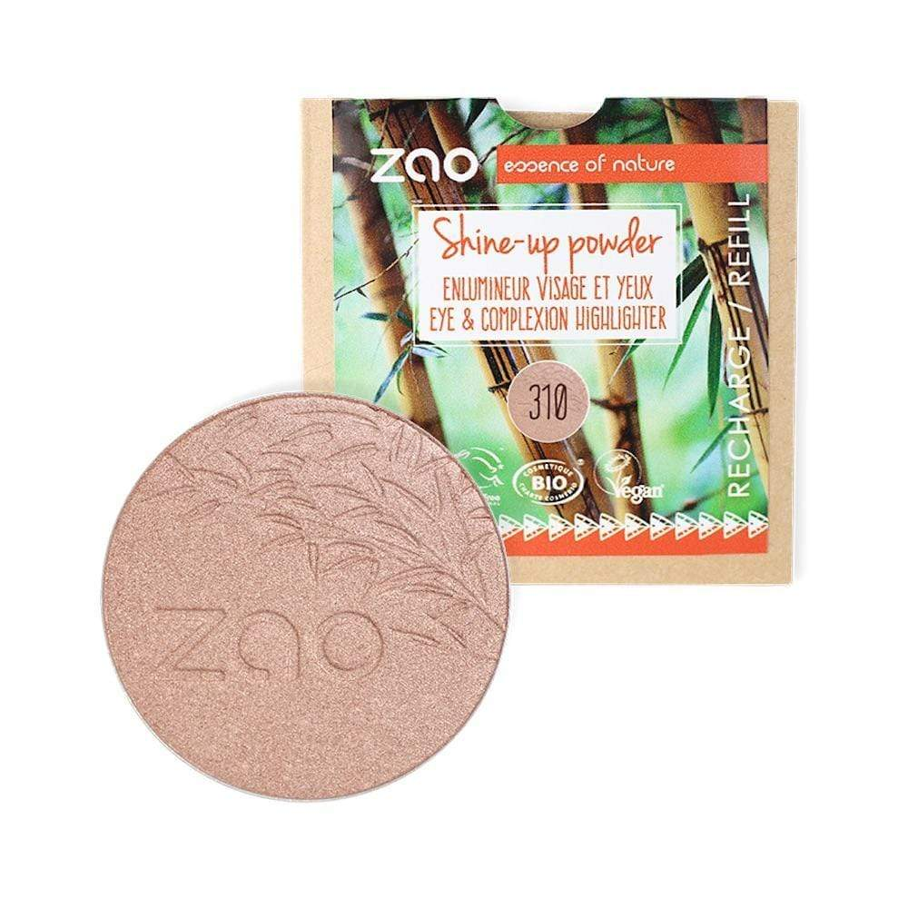 Zao Bamboo Shine-Up Powder - Pink Champagne Refill (310) &Keep