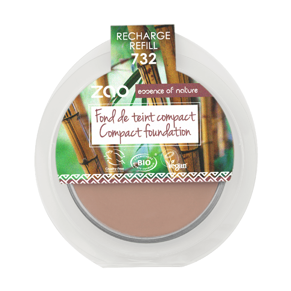 Zao Bamboo Compact Foundation - Rose Petal Refill (732) &Keep