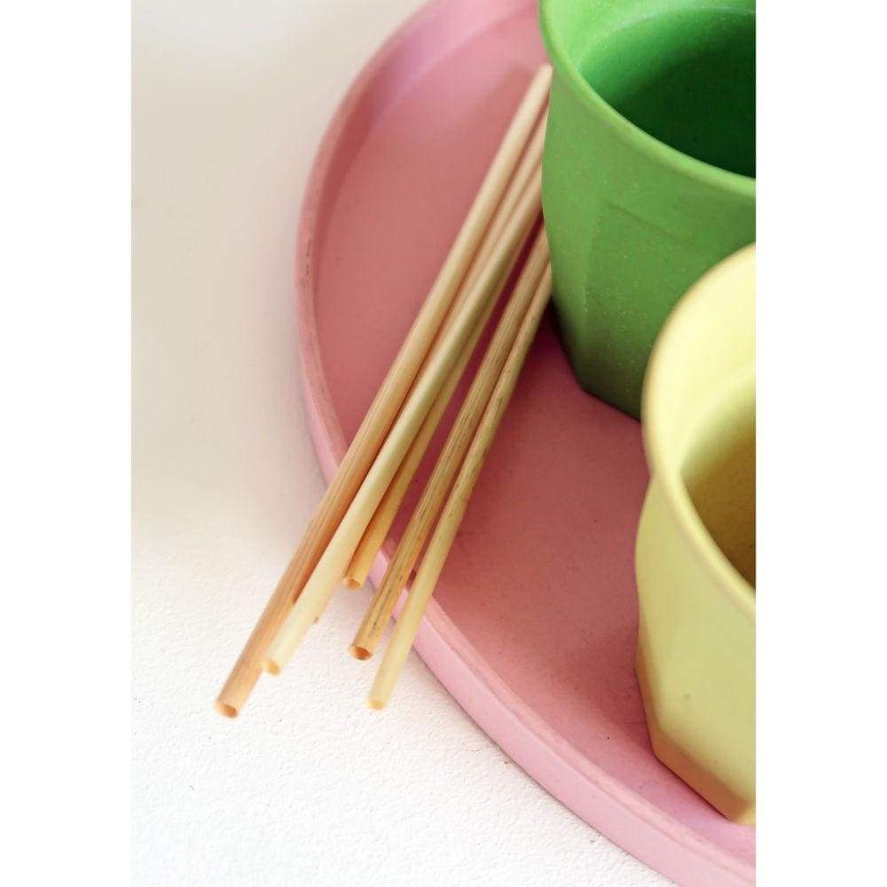 Zuperzozial Compostable Wheat Straws - Pack of 60 &Keep