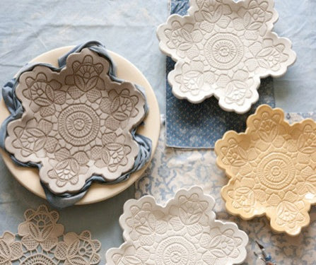 Handmade Lace Pottery