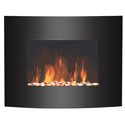 Igenix IG9410 Hamilton Glass Wall-Mounted Electric Fire with Flame Effect - GoShopDirect