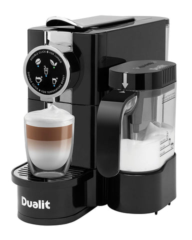 Dualit Coffee Machine & Milk Frother | Café Cino Capsule Machine - GoShopDirect