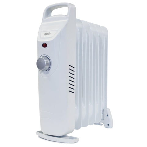 Igenix IG0500 | Baby Oil Filled Radiator | 0.5kW | Grey - GoShopDirect