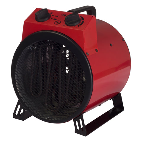 Drum Fan Heater | Igenix IG9301 | Commercial | 3 kW | Red - GoShopDirect