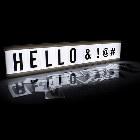 Cinematic Light Box | Letters, Numbers & Symbols - GoShopDirect