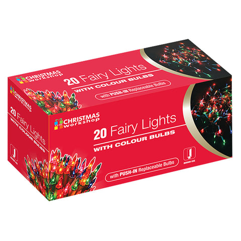 Multi Colour Fairy Lights | 20 Lights - GoShopDirect