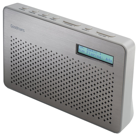 Goodmans Radio | Portable DAB Radio | FM Tuner | Steel - GoShopDirect